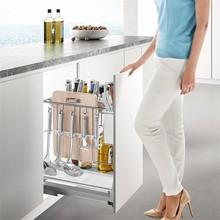 Cuisine Accessories Cucina Organizer Pantry Stainless Steel Rack Cocina Cozinha Kitchen Cabinet Cestas Para Organizar Basket