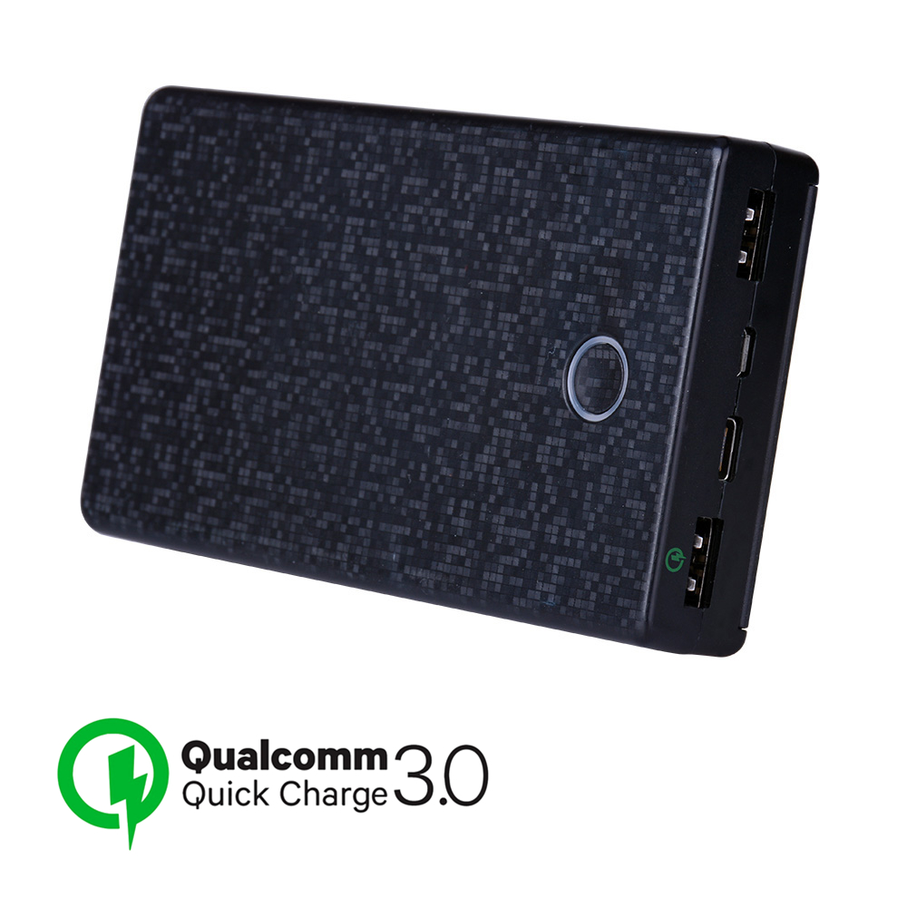 QC3.0 Quick Charger Power Bank 20000mah Dual USB for iPhone Xs Max XR Type C PD Fast Charging Powerbank 18650 External Batteries