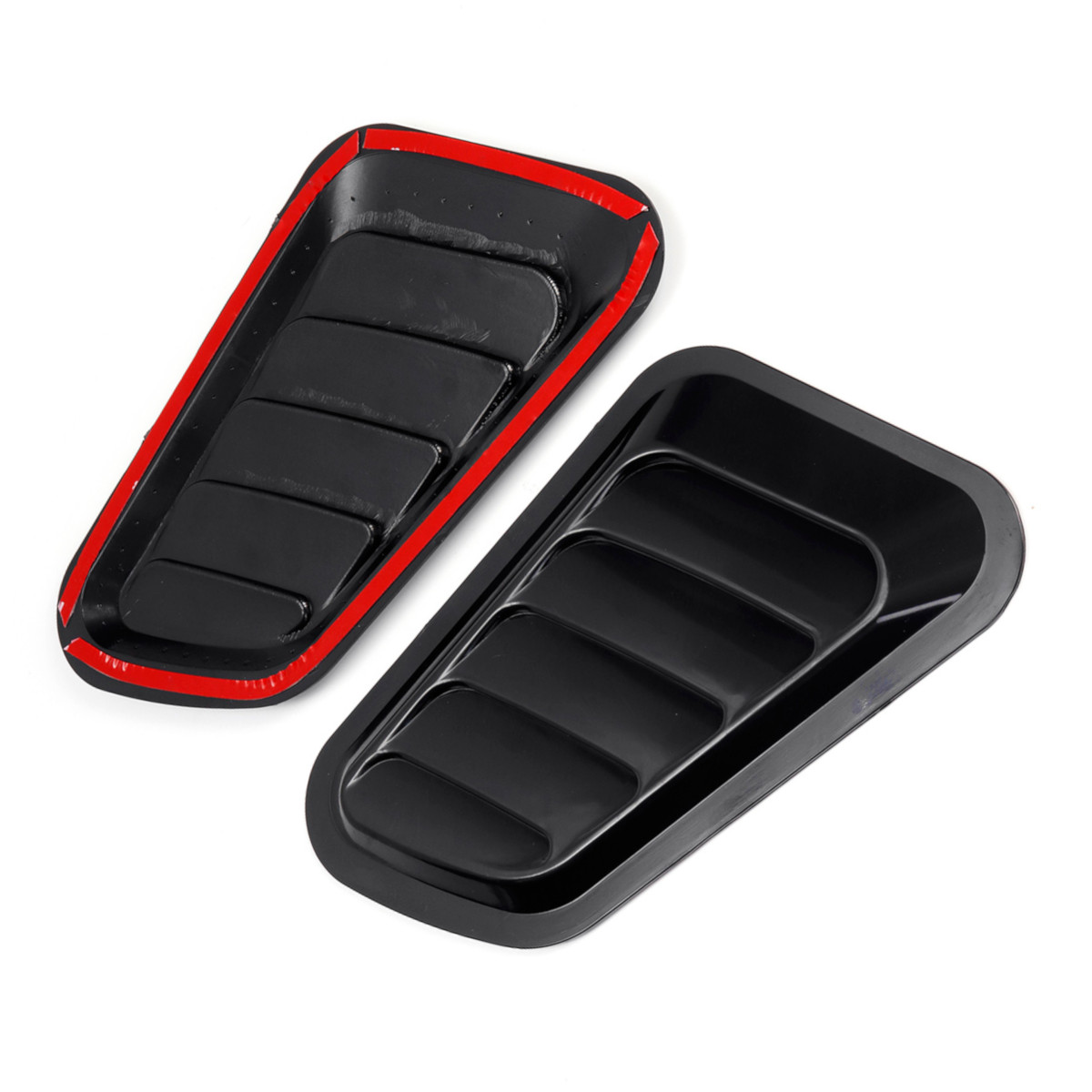 cheapest 2Pcs ABS Car Front Engine Cover Sticker Car Decorative Air Outlet Flow Fender Intake Scoop Turbo Bonnet Vent Cover Hood