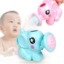 Water Bath Toys Cartoon Elephant Baby Infant Shower Pot Kids Shampoo Cup Bathing