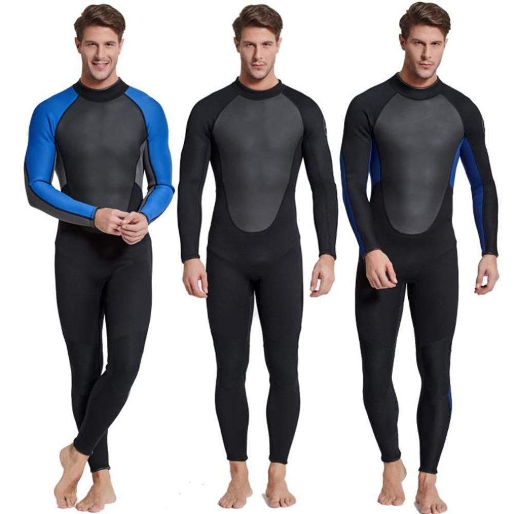 Sbart One piece 3mm Wetsuit Spearfishing Warm Winter Outdoor Long Sleeve Neoprene Diving Suit Men Revent Jellyfish in Wetsuit from Sports Entertainment