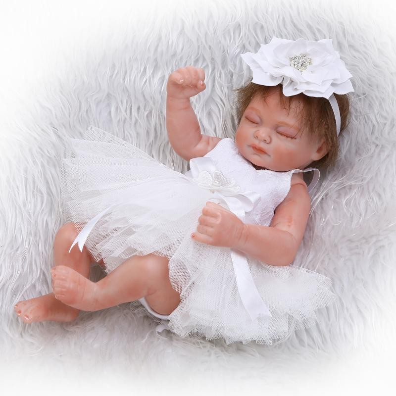 10inch Realistic Newborn Baby Dolls Reborn Lifelike Full Body Silicone Alive Babies Handmade Toddler Toys