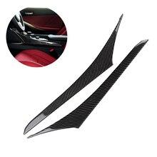 Para lexus is250 2013 2014 2015 2016 2017 2018 fibra de carbono 2 pçs interior do carro centro painel controle engrenagem shift capa