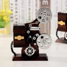 Kids Hand Crank Musical instrume Box Toys Creative Projector Vintage Music Box Toys For Children Birthday Gifts