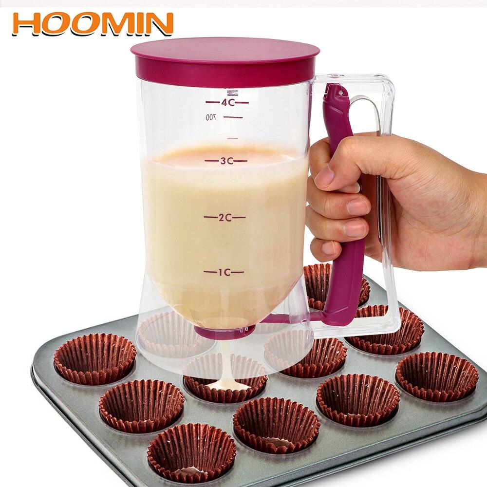 HOOMIN Paste-Dispenser Cupcakes Batter Muffins-Cream Flour 900ml For Speratator Baking-Tools