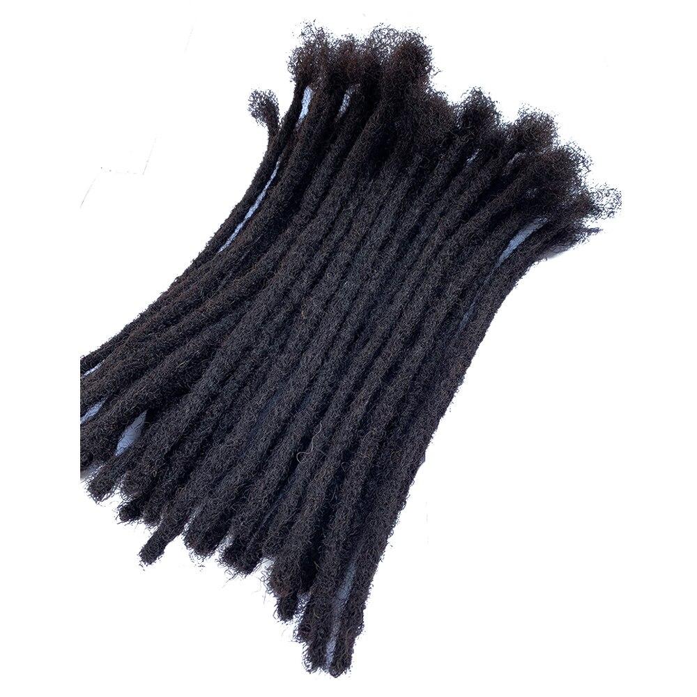 YONNA Human Hair Dreadlocks Microlocks Sisterlocks Dreadlocks Hair Extensions 40Locs Full Handmade Natual Black #1B(0.4cm Width)