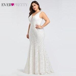 Image 5 - Ever pretty vestidos de casamento, corset de renda sereia design simples elegante para casamento 2020 mariee
