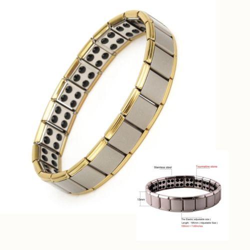 2019 Mode Männer Klassische Einfache Stil Armbänder Modus Titan Stahl Magnetische Therapie Energie Armband Heißer Verkauf Volumen Groß