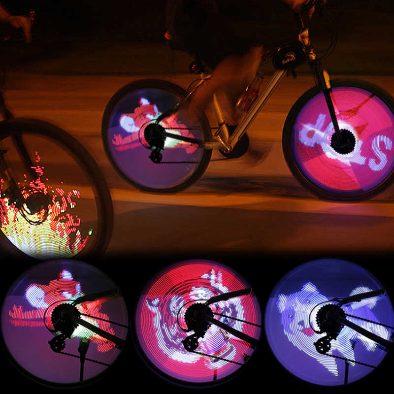 2x Bicycle Front Rear Spoke Lights Bike Cycling LED Warning Wheel Hub Lamps Gift