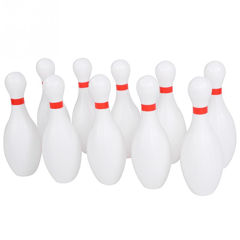 US $64 23 10% OFF|Durable Bowling Set 10pcs Big Bowling Pins 2pcs Bowling  Balls Outdoor Indoor Kids Toys Yard Games Family Games Toy-in Bowlings from