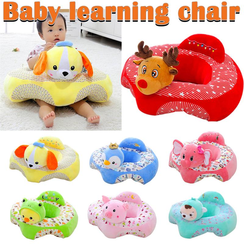 Infant Safety Seat Soft Stuffed Animal Baby Sofa Plush Baby Cushion Feeding Chair Learning To Sit Kids Back Support Soft Sofa