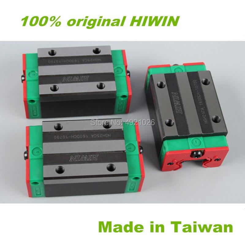 100% Original HIWIN Guide linéaire portant HGH20HA HGW20HC slidler bloc pour HIWIN linéaire rail guide HGR20 CNC pièces