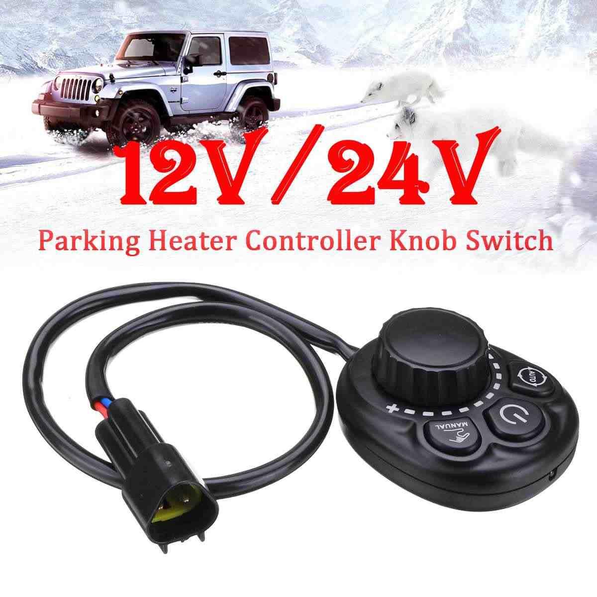 12 V/24 V Parkir Pemanas Controller Tombol Saklar untuk Truk Track Air Mesin Diesel Heater Perlengkapan