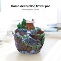 Creative Style Creative Desktop Landscape Flower Pot Garden Design Home Decoration Flower Pot House Garden Pots Dropshipping