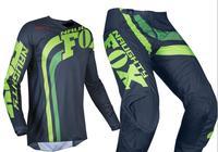2019 NAUGHTY Fox Green MX 180 Cota Men's Jersey & Pant Combo Motocross Motorbike Dirt Bike Off road ATV BMX Gear Set