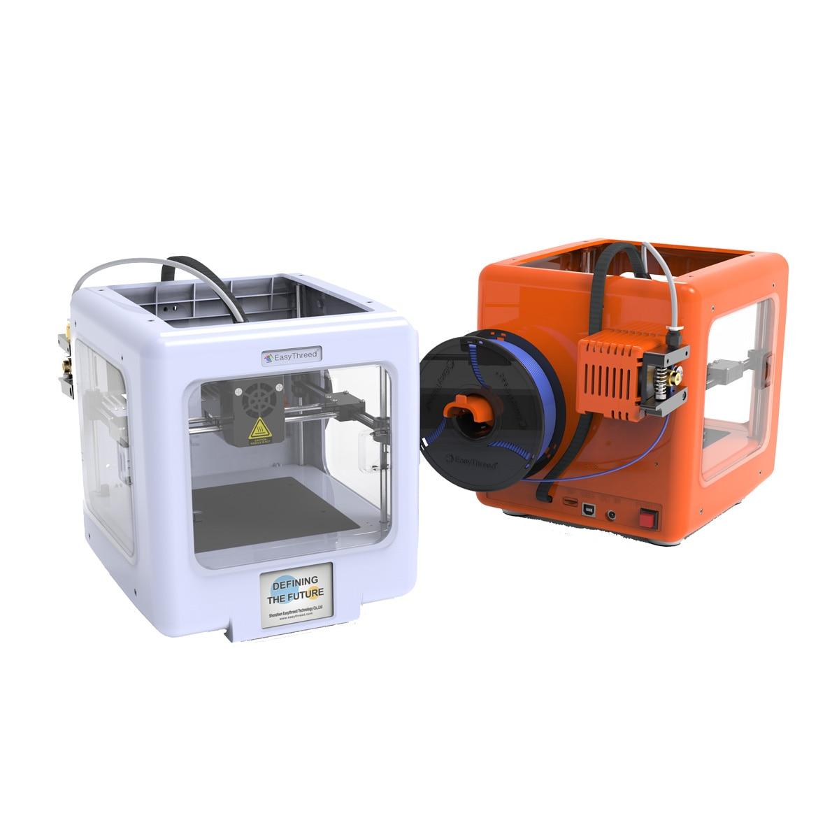 Orange/White Mini Desktop Assembled 3D Printer Support WIFI/APP Control With Removable Magnetic Platform 90x100x110mm Size