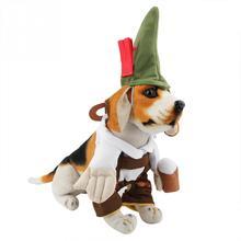 Костюм для домашних животных милый Пивной Официант стиль собака модные  джинсы Косплей Одежда Костюм кошка забавная 12189d4fb75f9