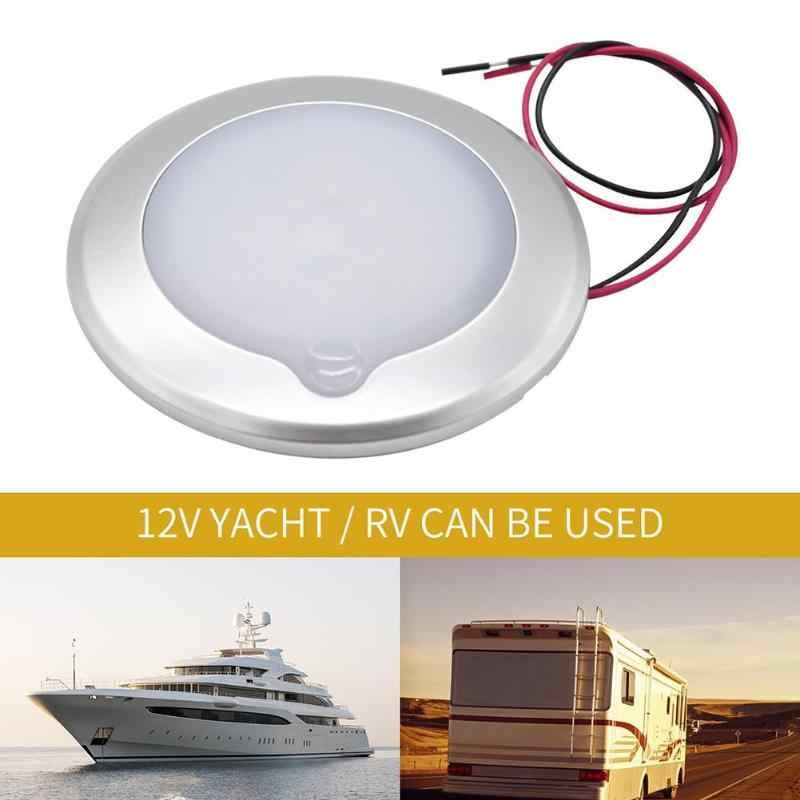1 pièces 12 V LED lampe d'éclairage intérieur de voiture 2.4 W 3000 K tactile à l'intérieur RV Kit de lumière de toit pour RV camping-Car Van bateau remorque blanc brillant