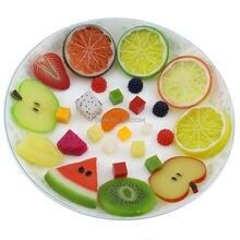 Gresorth 27 PCS Artificial Fake Fruit Slices Decoration Apple Lemon Strawberry KIWI Orange ……