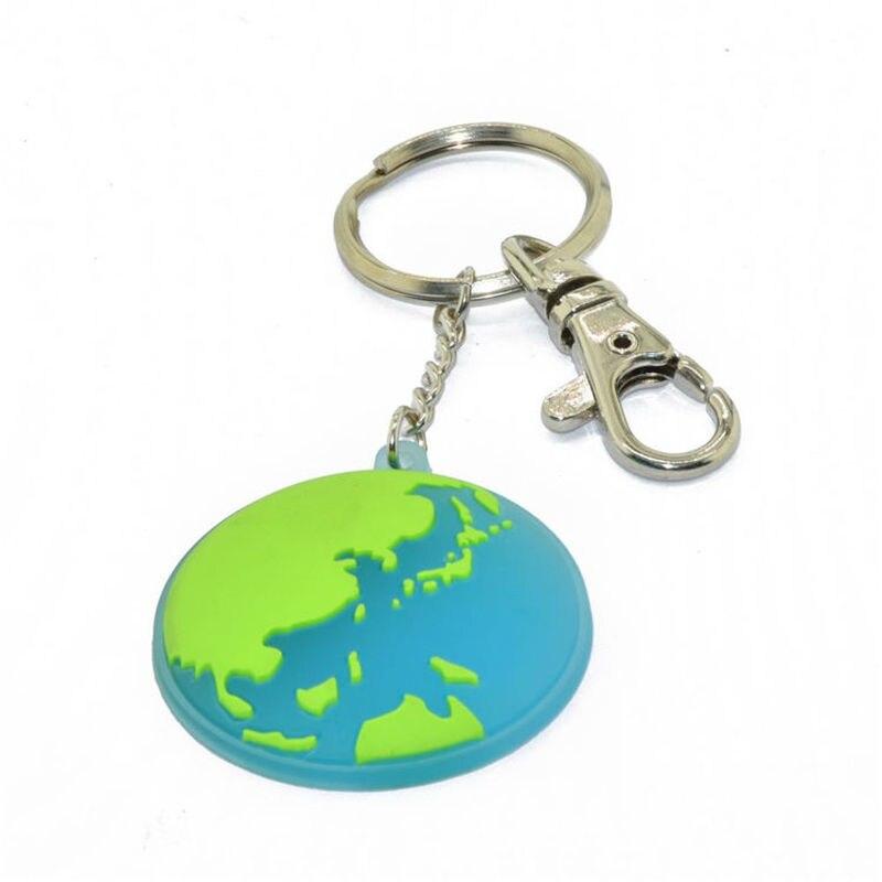 custom logo round shaped soft pvc keychains 2d pvc rubber key ring CS KR 011