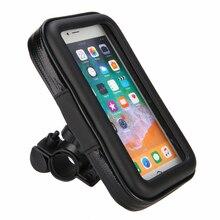 1pc Motorcycle Handlebar Phone Bag Holder Bicycle Waterproof GPS Mount Case Adjustable 360 Degree
