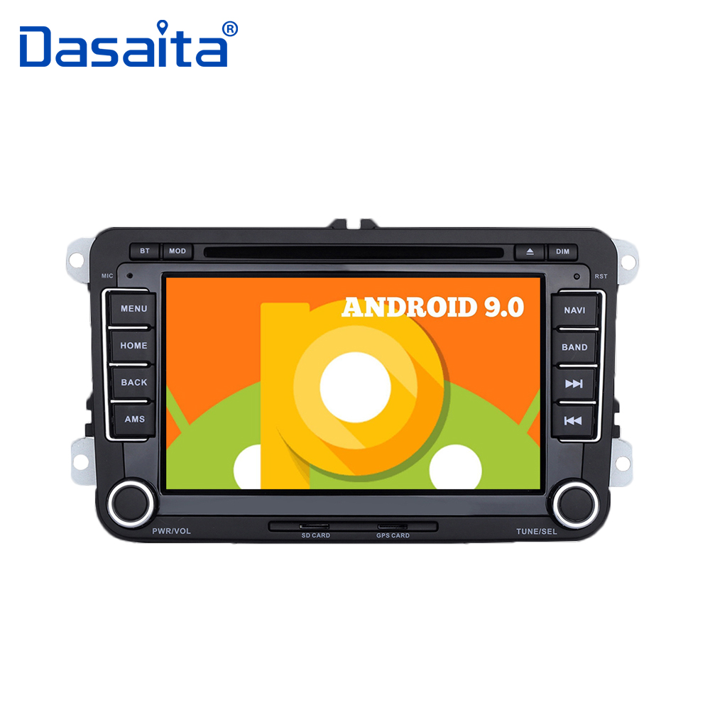 "Android 9.0 Radio 2 din 7"" Car DVD Audio Player for VW Golf Polo Passat Tiguan EOS with 16G ROM Bluetooth GPS Navigator"