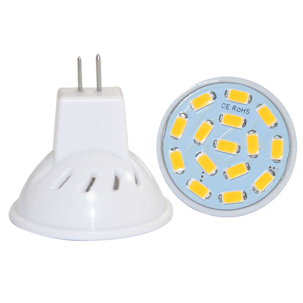 1PCS MR11 Led Lamp SMD 5730 15leds Bulb Light Mini Spotlight Home Decor Lighting 10V-30V