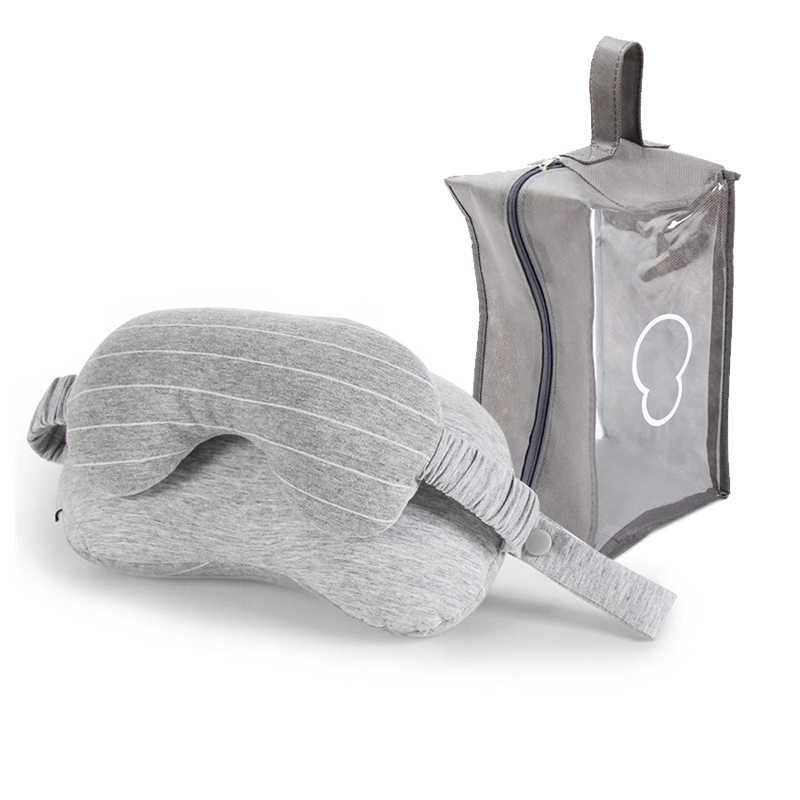 Portable Perjalanan Bantal 2 In 1 Tidur Pesawat/Mobil/Kereta Perjalanan Leher Bantal & Masker Mata & penyimpanan Tas