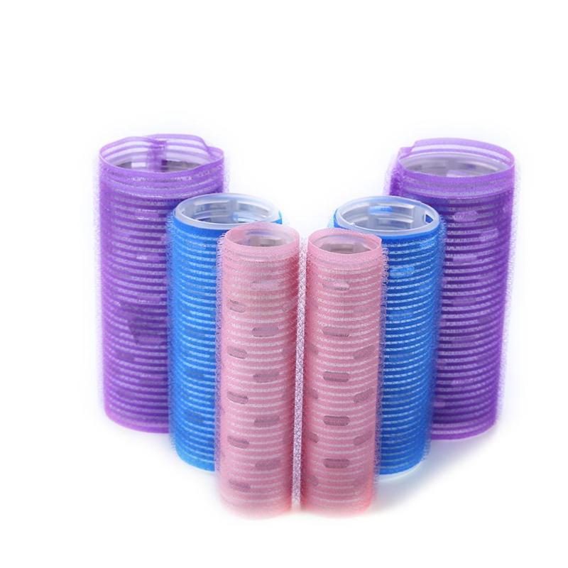 2pcs Salon Curlers Self-Adhesive Cling Hair Rollers Salon Curlers DIY Hairdressing Tools Plastic Hair Curling