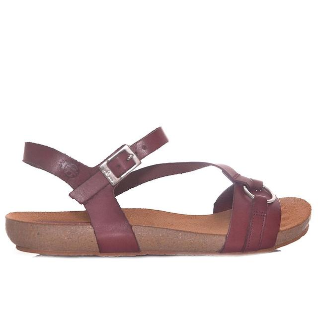 a8d23147992 YOKONO WOMAN YOKONO IBIZA 068 synthetic BORDEAUX Flat sandals-in ...
