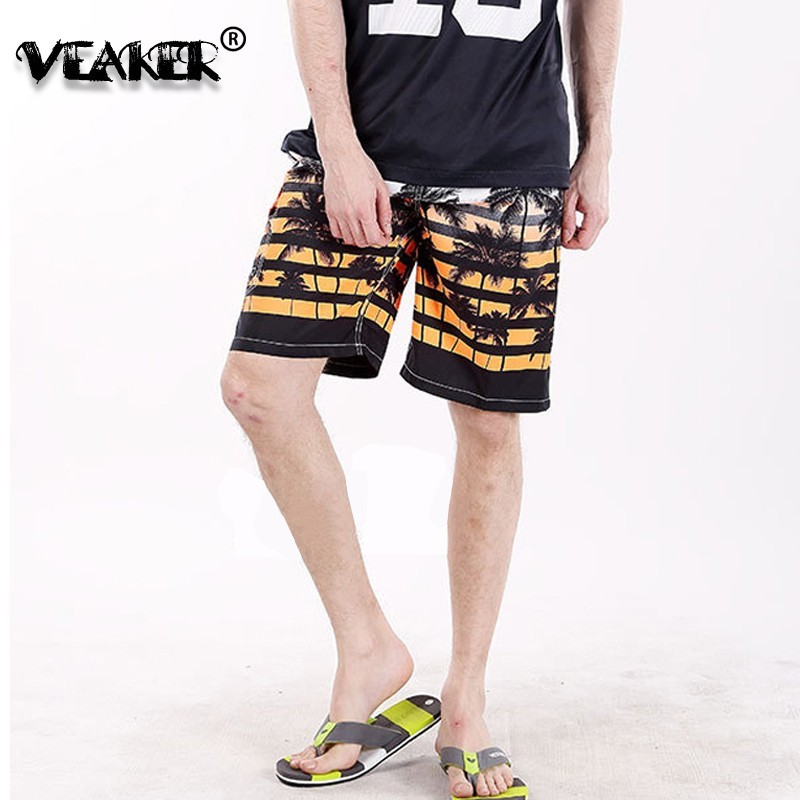 2019 New Men's Tropical Beaches Surfings Shorts Palm Tree Print Male Summer Casual Plus Size M-6XL Waterproof Beach Mens Shorts
