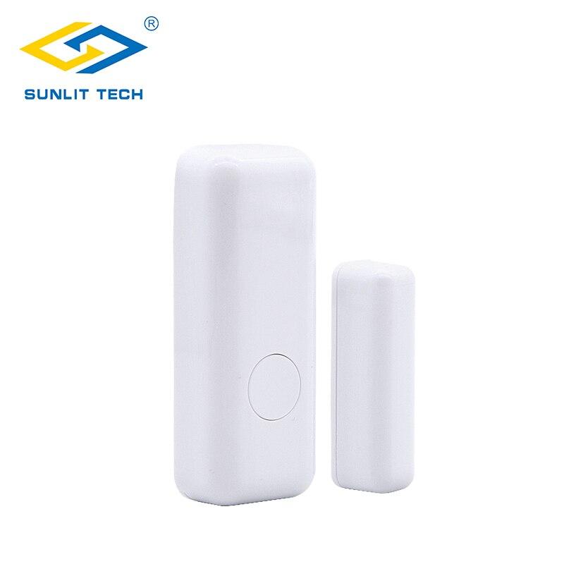 DHL Free Shipping 500pcs Wireless Door Window Sensor For 433MHz Home Security Wifi Magentic Door Open Detector Alarm System Kir