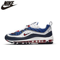 NIKE Air Max 98 Gundam Men Running Shoes Breathable Light Support Outdoor Sports Comfortable Sneakers #640744 100