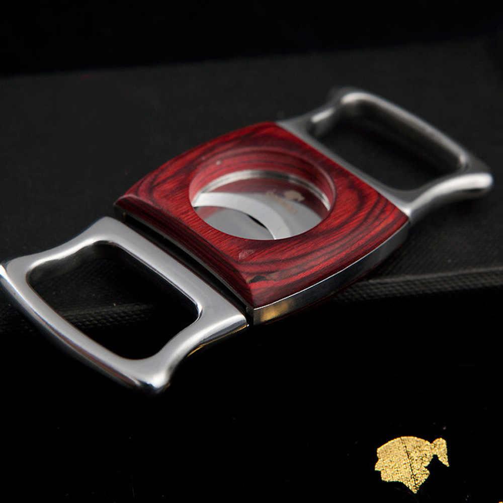 COHIBA двойные ножи из нержавеющей стали резак для сигар карманные гаджеты устройство для резки сигар нож кубинские сигары ножницы 357UA