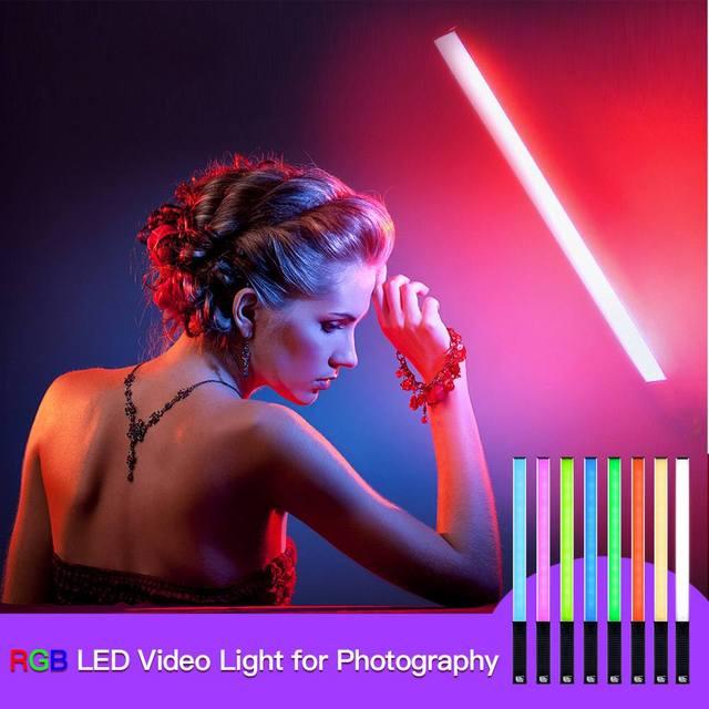Luxceo rgb led ビデオ補助光カラフルなハンドヘルド 10 ワット 3000 5500k プロの写真 led フラッシュライトスピードライト写真照明