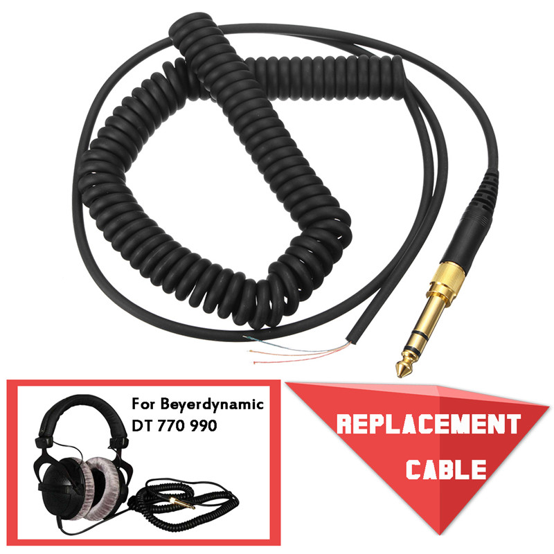 CLAITE Replacement Cable For Beyerdynamic DT 770 770Pro 990 990Pro Headphone Cord Wire Plug