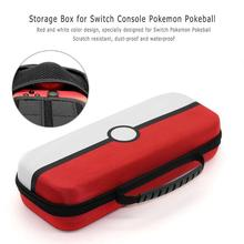 משחקי אחסון תיק קשיח מעטפת PU נשיאת פאוץ תיק נייד להגן על מקרה עבור Nintend מתג קונסולת עבור Nintend Pokeball בתוספת