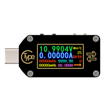 HD Type-C Color Display PD Trigger USB Voltmeter Ammeter Voltage 2-way Measurement Current Meter Multimeter USB Tester supple t50n usb dual channel meter color screen display tester usb voltage current power capacity meter qc2 0 qc3 0 pd test