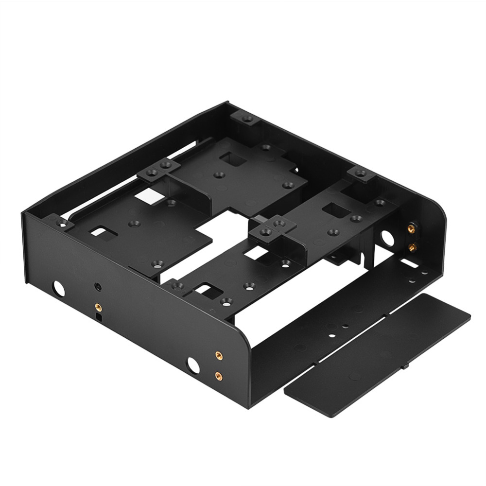 Oimaster 2.5 Inch/3.5 Inch Hdd/Ssd To 5.25 Inch Floppy-Drive Bay Computer Mounting Bracket Adapter