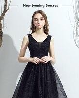 Элегантное Черное короткое платье Yewa Лидер продаж с сексуальным v образным вырезом, без рукавов, трапециевидной формы вечерние платья торже