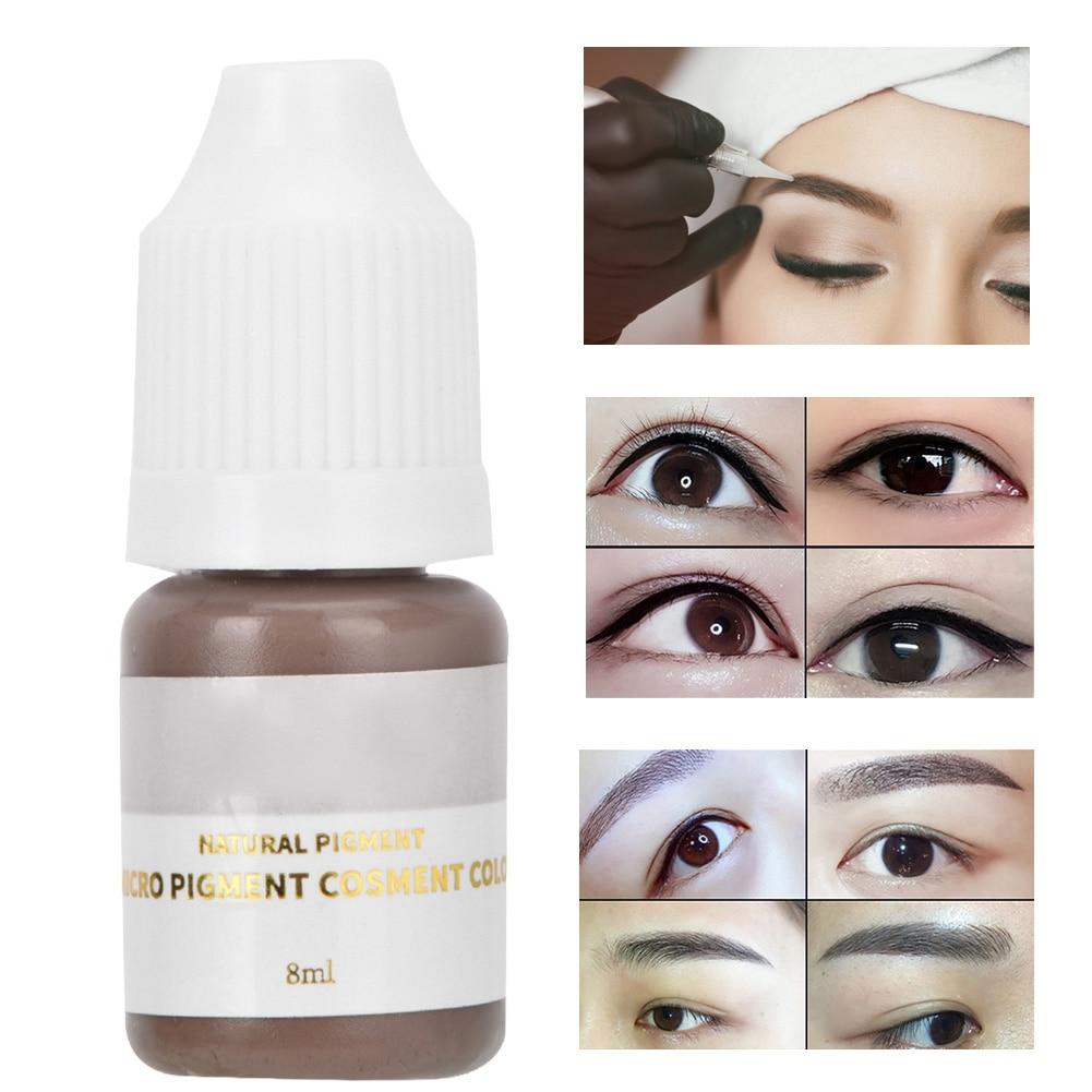 8ml Semi Permanent Eyebrow Tattoo Ink Permanent Makeup Tattoo Pigment Ink Lips Eye Line Tattoo Color Microblading Pigment Inks Mega Deal 2548e Cicig