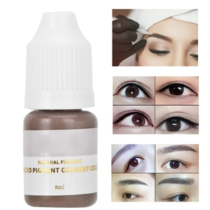 Image 2 - 8ml Semi permanent Eyebrow Tattoo Ink Permanent Makeup Tattoo Pigment Ink Lips Eye Line Tattoo Color Microblading Pigment Inks
