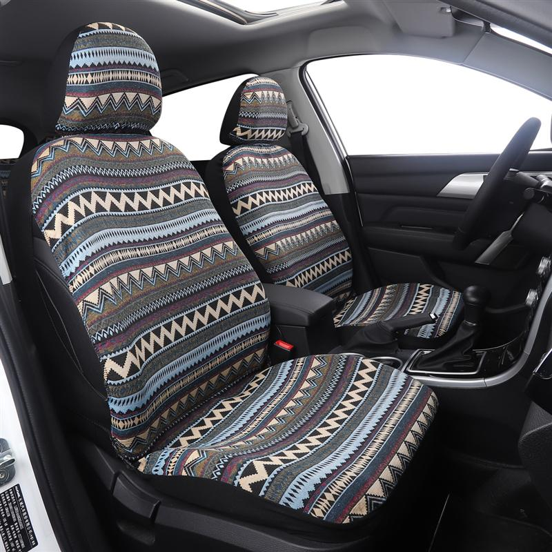 8Pcs/Set Universal Car Seat Cover Baja Saddle Blanket Car Seat Cover Ethnic Style Bucket Seat Protector Car Styling Covers