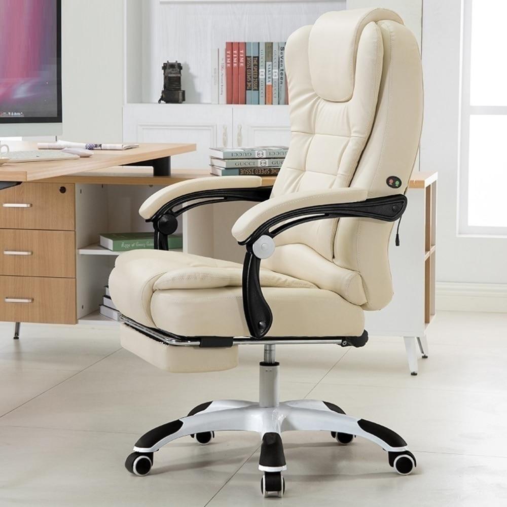 Купить с кэшбэком Ufficio Bilgisayar Sandalyesi Sedia Gamer Chaise De Bureau Ordinateur Fotel Biurowy Leather Computer Poltrona Silla Gaming Chair