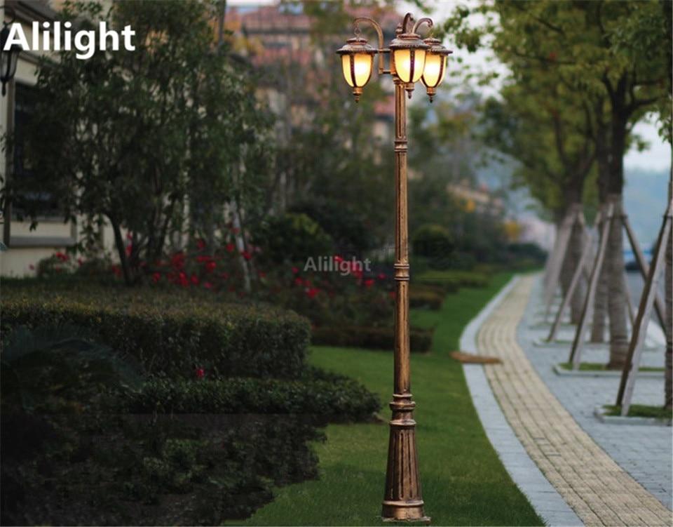 Europe Garden Outdoor Lighting Poles