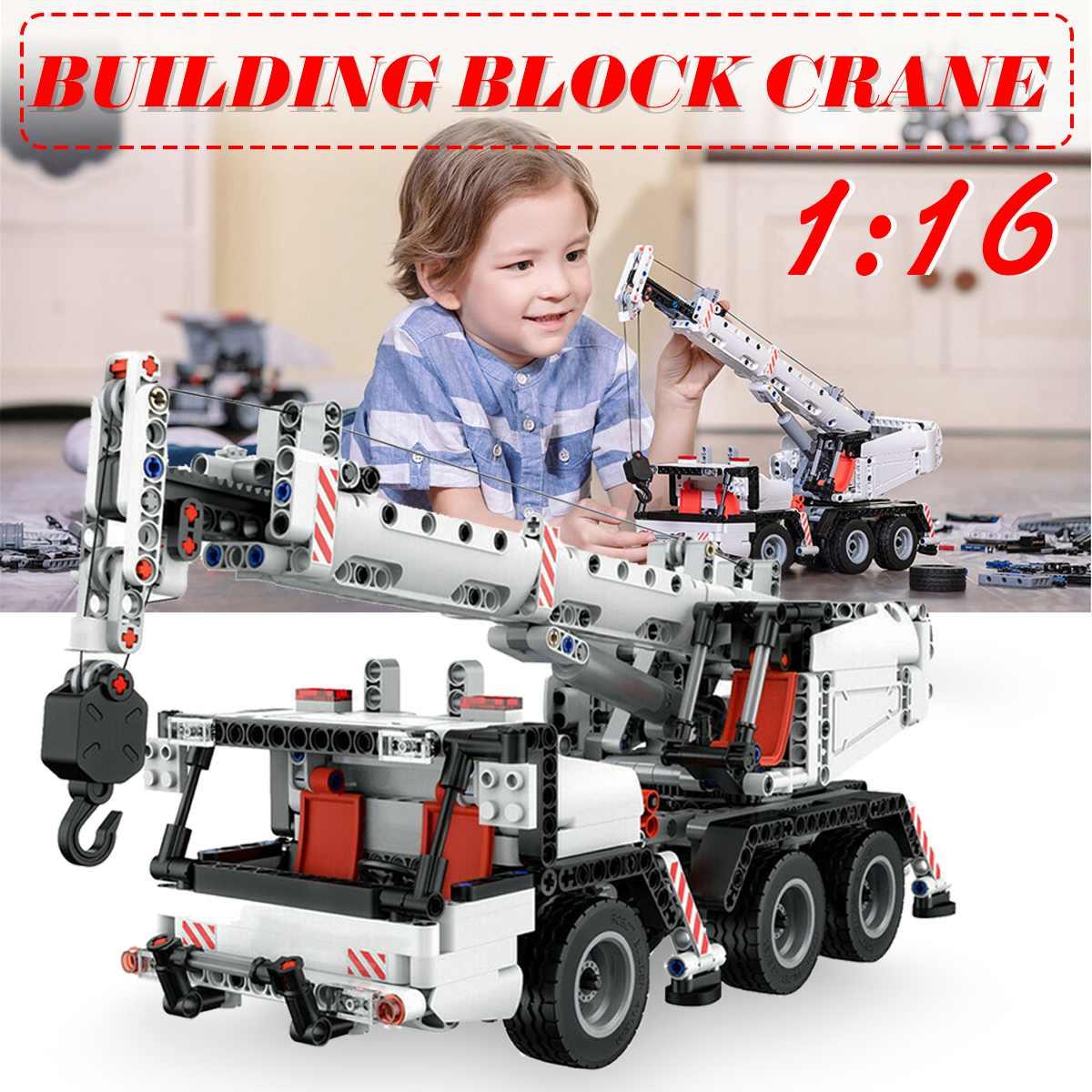 Blocs de construction de grue d'ingénierie de ville voiture rotative à 360 degrés blocs de camion Robot bricolage jouets éducatifs pour Xiaomi pour Mitu