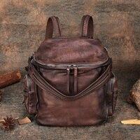 2019 Новый женский рюкзак из натуральной кожи женские повседневные дневные рюкзаки школьные рюкзаки для девочек mochila Ретро винтажный рюкзак