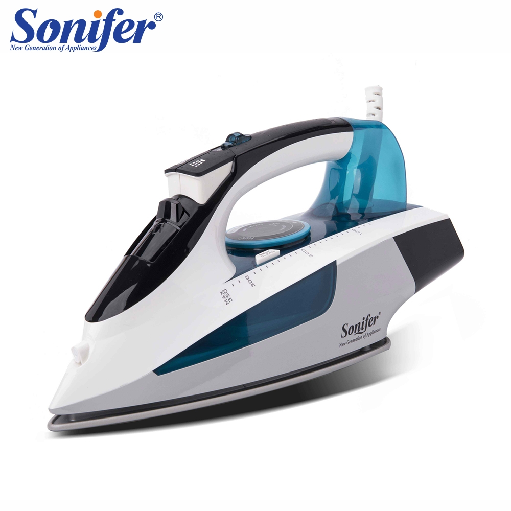 2400W High quality laundry home appliances Electric Steam Iron For Clothes Adjustable Ceramic soleplate iron for ironing Sonifer clothes iron