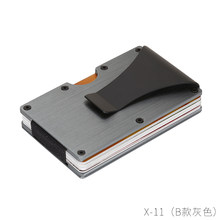 New Credit Card Holder Metal Wallet Anti-theft Business Man Credit Card Cash Holder for Outdoor Travel Portable High Quality(China)