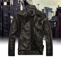 Dropshipping Jackets Men Slim Fit Casual Outerwear Bomber Jacket Windbreaker PU Motorcycle Leather Jackets male fur coat